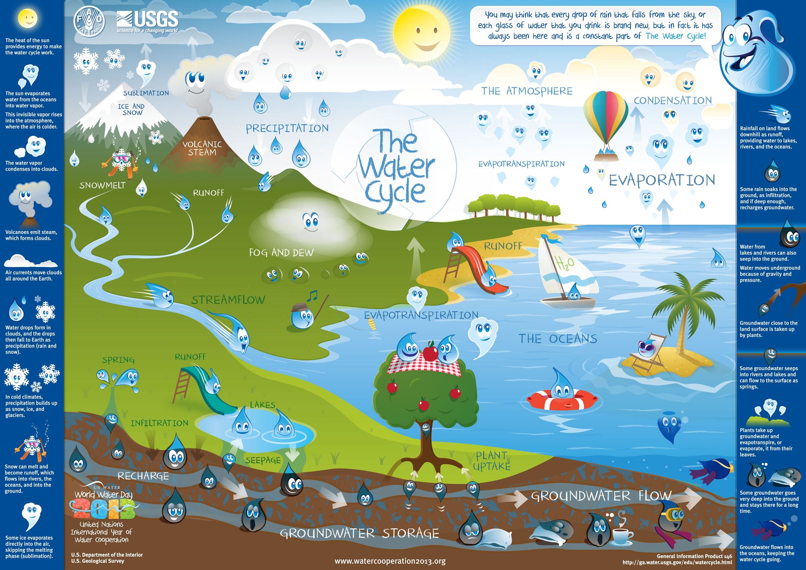 View The Water Cycle informational poster.