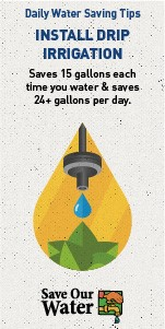 View daily water saving tips from Save Our Water.