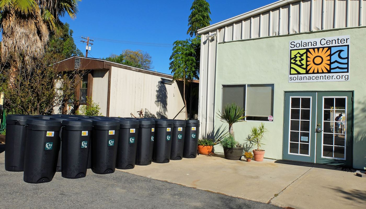 SHARED rain barrels