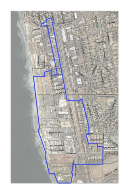Solana Beach AMI Meter Replacement Map