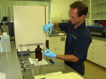 Man in Filtration Lab
